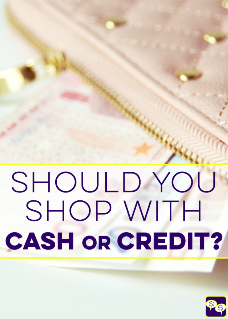 Should you shop with cash or credit? Does which one you use make a difference in your spending habits? You bet! Here's how we use each.