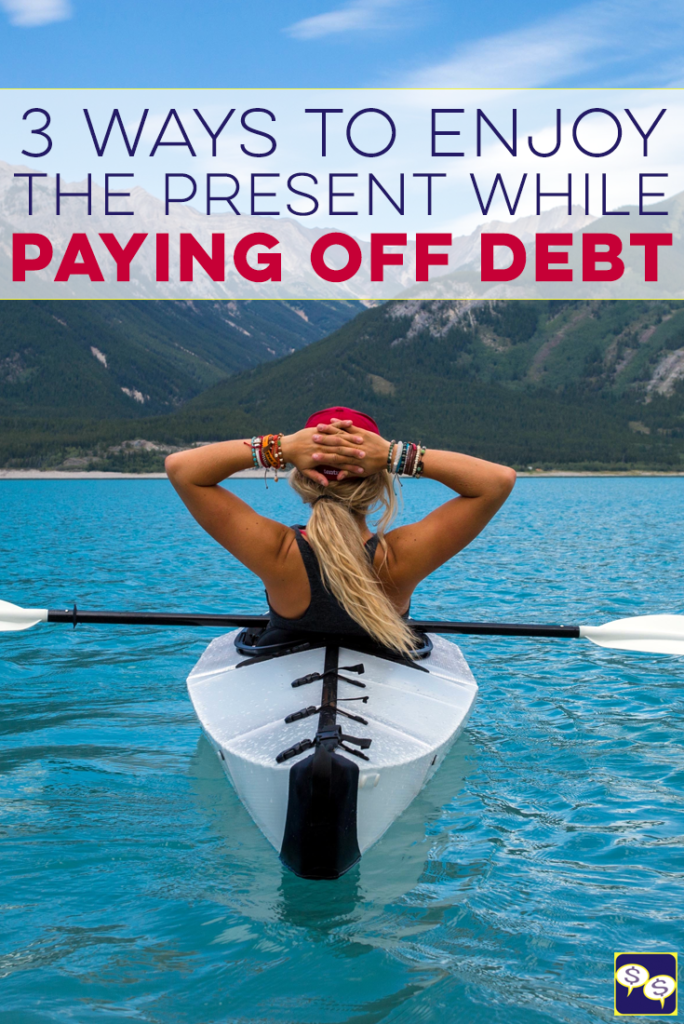 It can be hard to balance enjoying the present when paying off debt, especially when all your money is going toward debt. Here's how we do it.