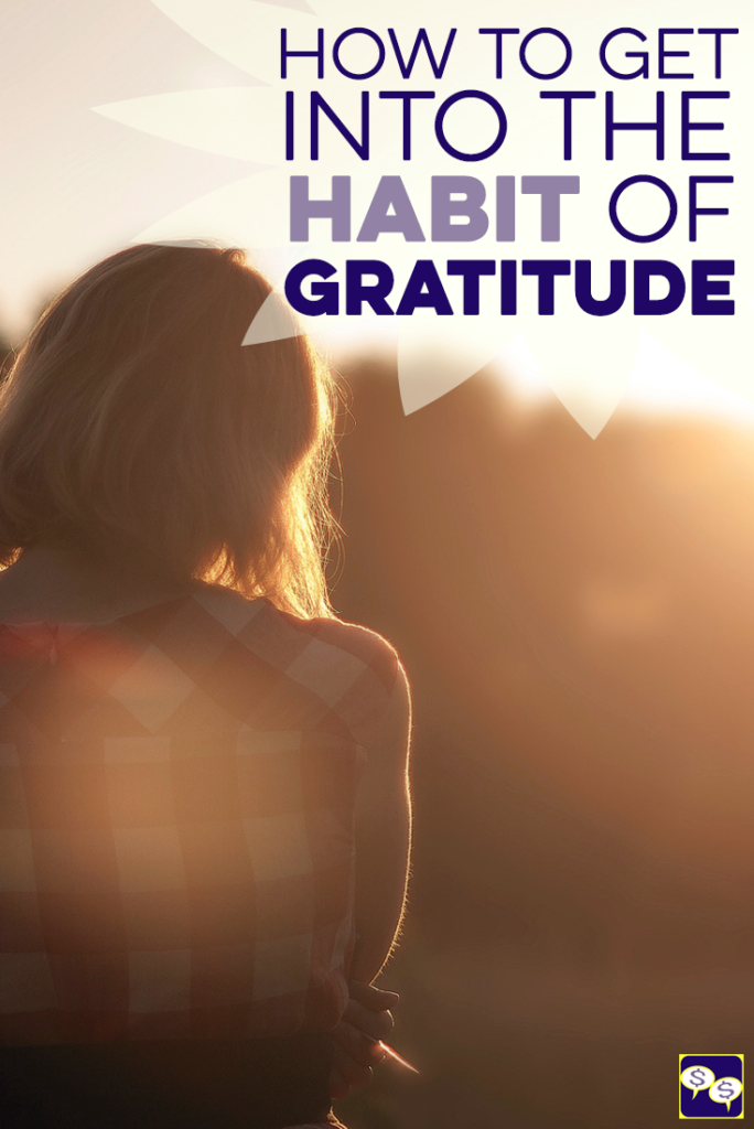 Getting into the practice of gratitude